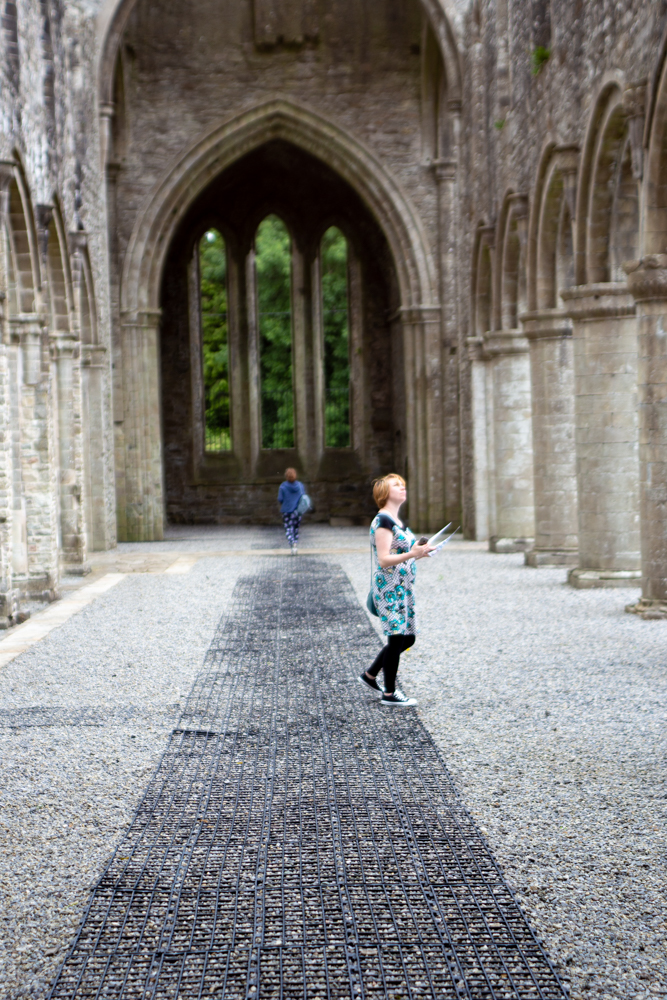 Searching for Sile na gig at Boyle Abbey