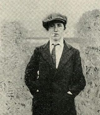 Black and white image of Margaret Skinnider wearing a man's suit and cap with cigarette