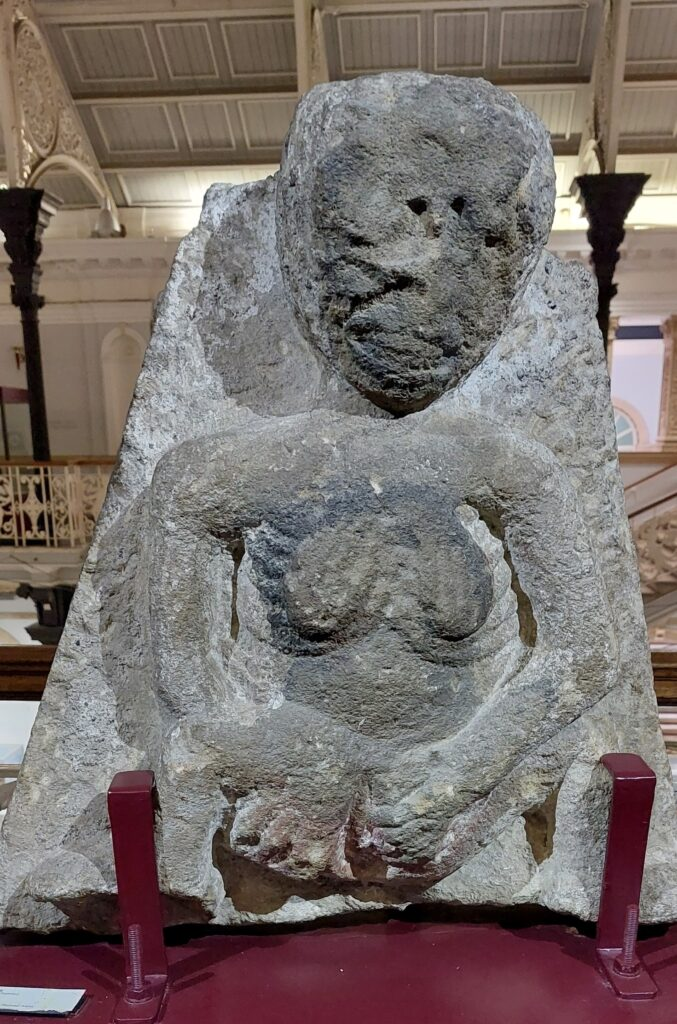 The Clonmel Sheela na Gig on display in the National Museum